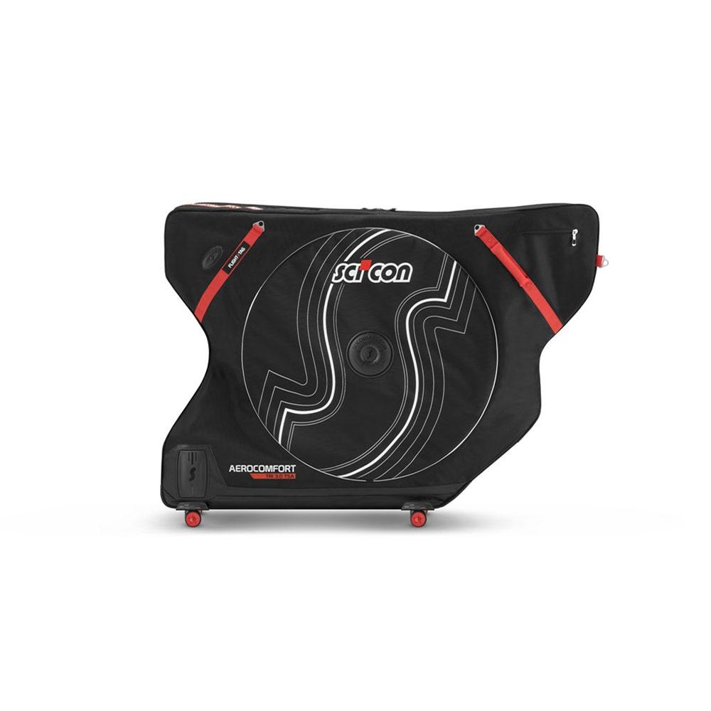 Scicon bolso bicicleta aerocomfort 3.0 tsa Triathlon negro rojo Weiss