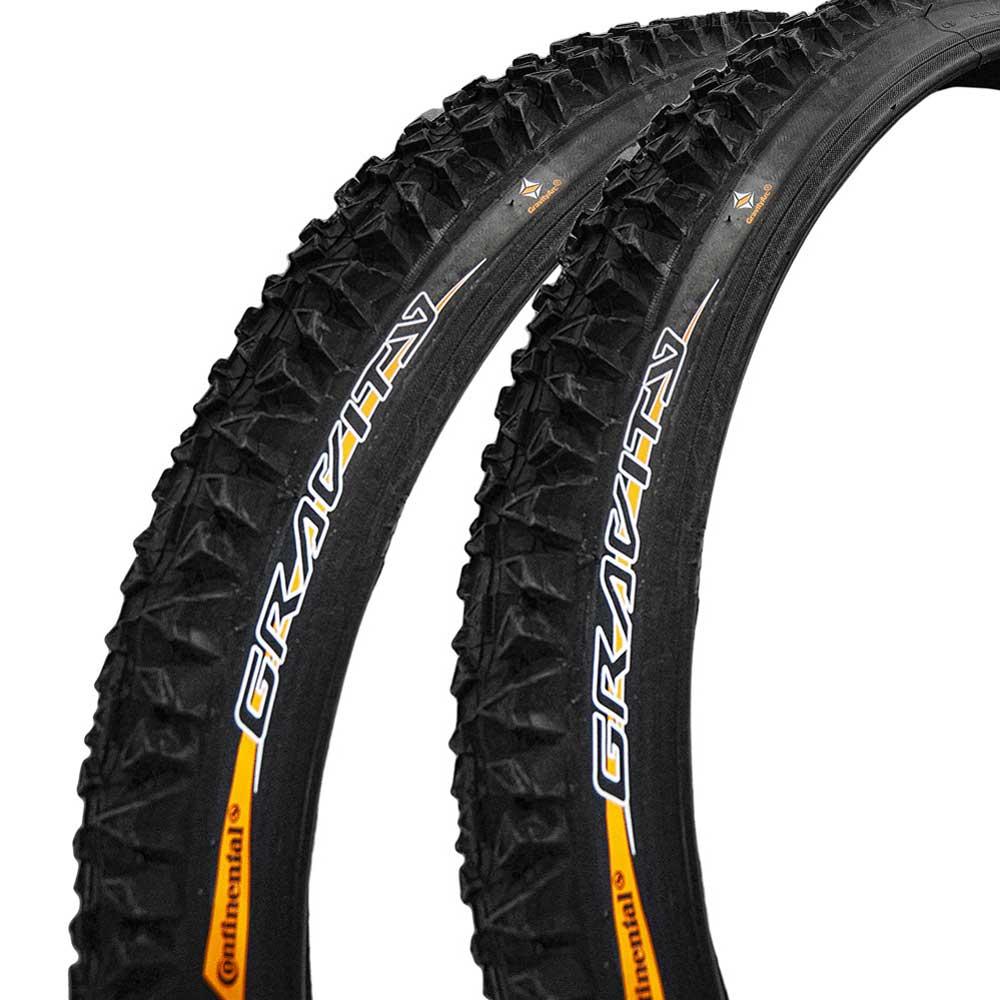 2 x Continental Gravity Draht Reifen 26 x 2,3 57-559 schwarz Fahrrad BIKE tire