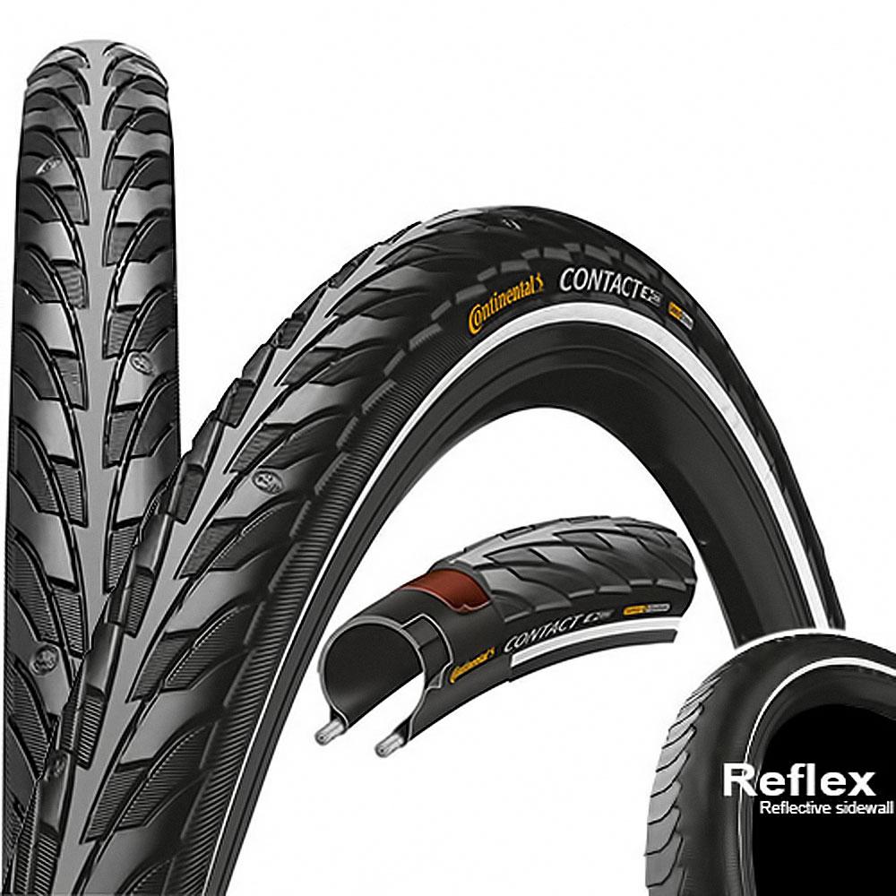2x Continental Reifen Contact E-25 Draht Reflex 28x1,1 28-622 700x28C Rennrad sz