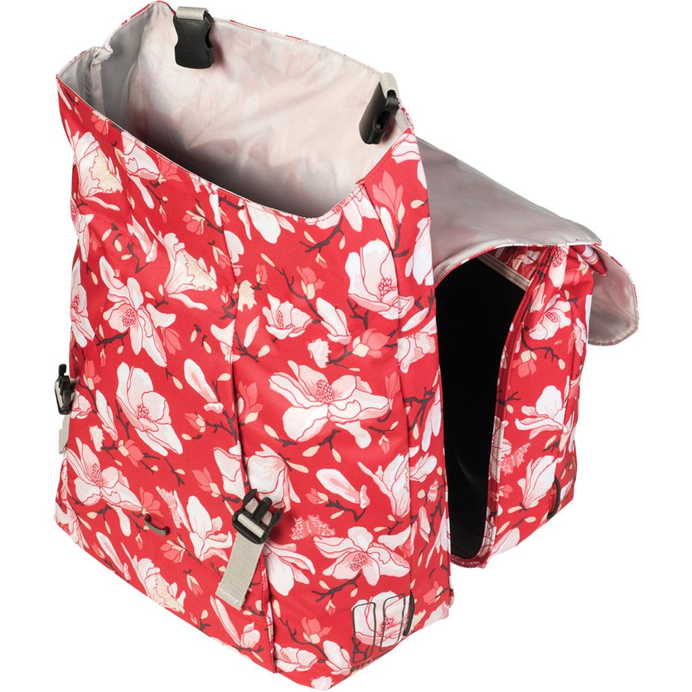 2018-35 Liter für Gepäckträger BASIL Magnolia Double Bag Doppelpacktasche